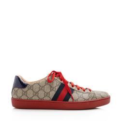 Gucci GG Supreme Ace Sneakers - Men's Size 9.5 / 39.5