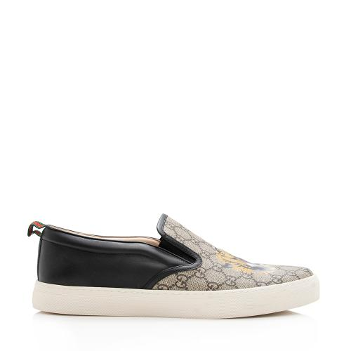 Gucci GG Supreme Bengal Tiger Slip-On Sneakers - Men's Size 12.5 / 42.5