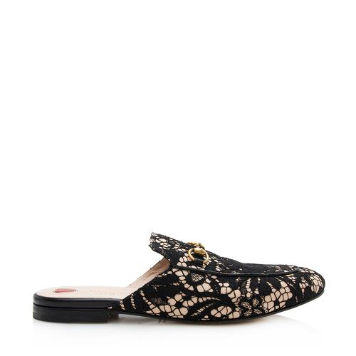 Gucci Lace Princetown Loafers - Size 10 / 40