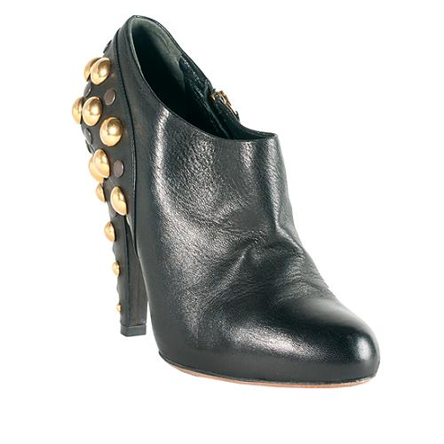 73c4042f0 Gucci Leather 'Babouska' Studded Booties - Size 8.5 / 38.5