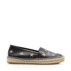 Gucci Leather Bee Espadrilles - Size 9 / 39