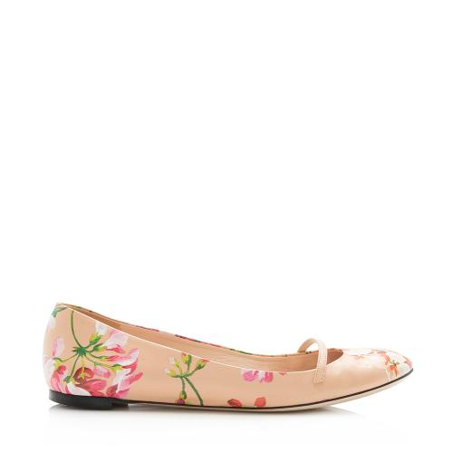 Gucci Leather Blooms Flats - Size 11 / 41