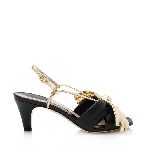 Gucci Leather Dafne Pumps - Size 7 / 37