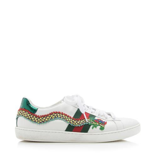 16d0f5a5c4e Gucci-Leather-Web-New-Ace-Snake-Embroidered-Sneakers --Size-75-375 94673 right side large 0.jpg