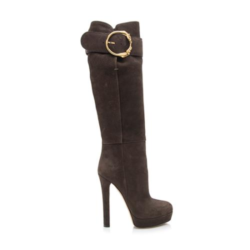 Gucci Nubuck Josephine Horseheads Tall Boots - Size 6 / 36