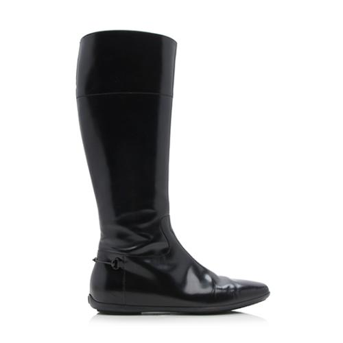 Gucci Patent Leather Equestrian Riding Boots - Size 6.5 / 36.5