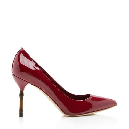 Gucci Patent Leather Kristen Pumps - Size 9 / 39
