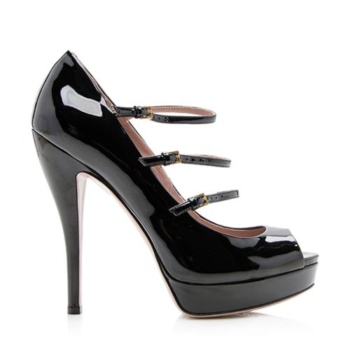 Gucci Patent Leather Lisbeth Pumps - Size 9 / 39