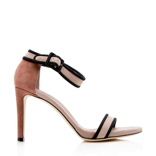 Gucci Suede Buckled Ankle Strap Sandals - Size 8.5 / 38.5