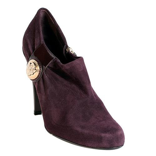 6d6c05b2189 Gucci Suede  Hysteria  Ankle Boots - Size 9.5   39.5