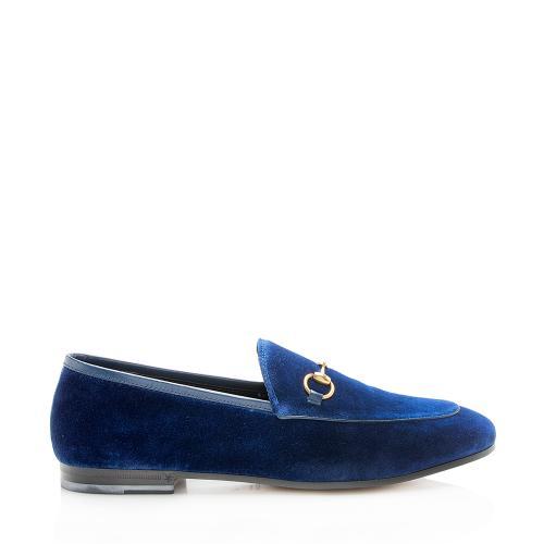 Gucci Velvet Horsebit Jordaan Loafers - Size 9 / 39