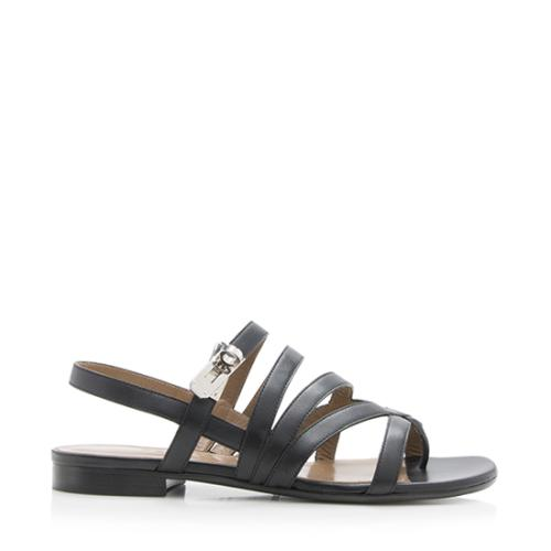 Hermes Leather Marine Sandals - Size 7 / 37