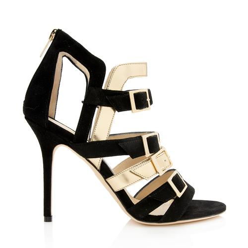 Jimmy Choo Leather Bronx Sandals - Size 9 / 39
