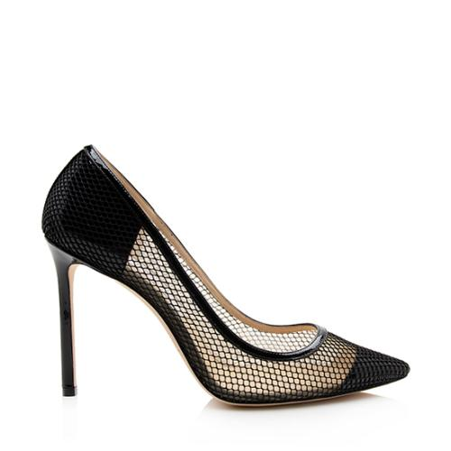 Jimmy Choo Mesh Romy Cap Toe Pumps - Size 10 / 40