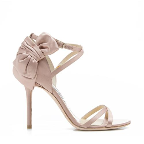 Jimmy Choo Satin Zambia Bow Sandals - Size 8 / 38