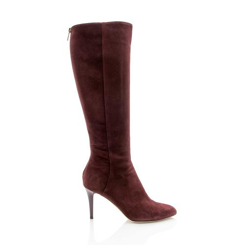 Jimmy Choo Suede Grand Boots - Size 8.5 / 38.5