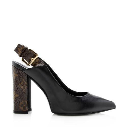 Louis Vuitton Calfskin Monogram Matchmake Slingback Pumps - Size 6 / 36