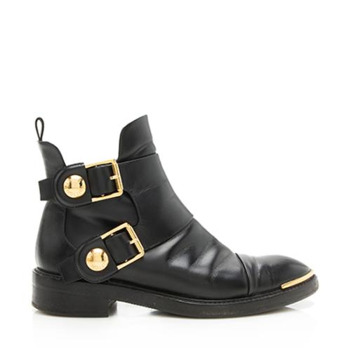 Louis Vuitton Calfskin Valley Flat Ankle Boots - Size 7 / 37 - FINAL SALE