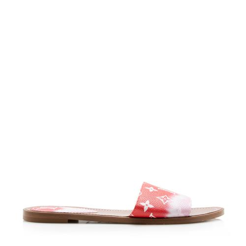 Louis Vuitton Escale Monogram Slide Sandals - Size 10 / 40