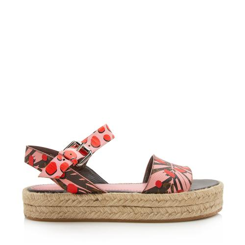 Louis Vuitton Limited Edition Jungle Dots Espadrille Sandals - Size 6 / 36