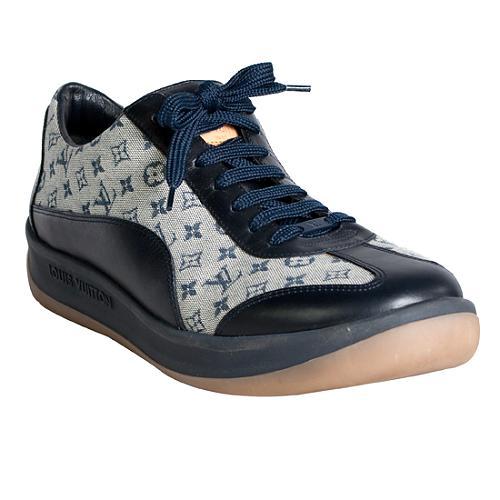 Louis Vuitton Monogram Mini Lin Leather Trim Sneakers - Size 10 / 40
