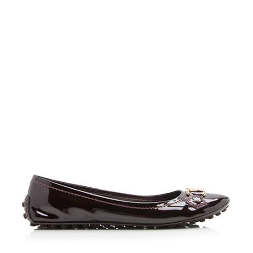 Louis Vuitton Patent Leather Oxford Ballerina Flats - Size 8 / 38