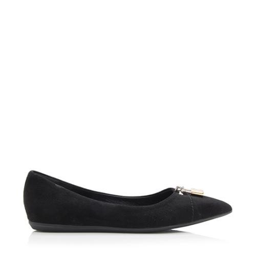 Louis Vuitton Suede Pinky Swear Ballerina Flats - Size 6 / 36
