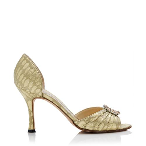 Manolo Blahnik Jacquard d'Orsay Pumps sale pay with paypal choice sale online cheap sale low shipping buy cheap order eh2HwGu