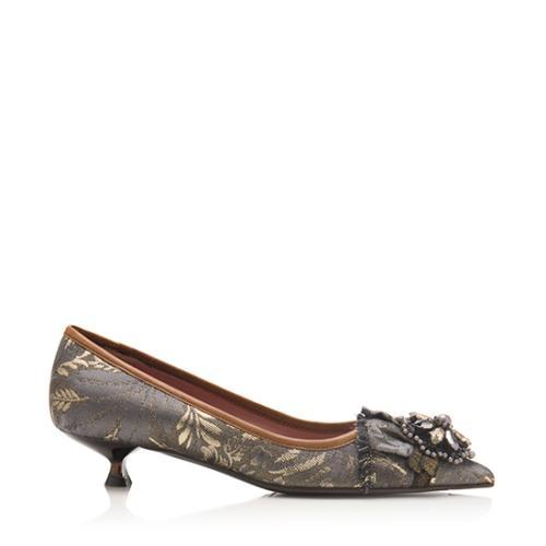 Miu Miu Brocade Kitten Heels - Size 7 / 37