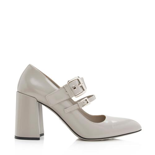 Prada Leather Double Buckle Mary Jane Pumps - Size 9 / 39