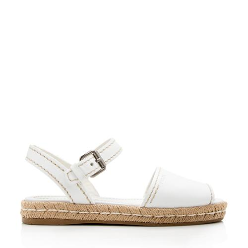 Prada Leather Espadrille Sandals - Size 7 / 37