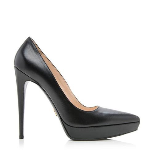 Prada Leather Platform Pumps - Size 9 / 39