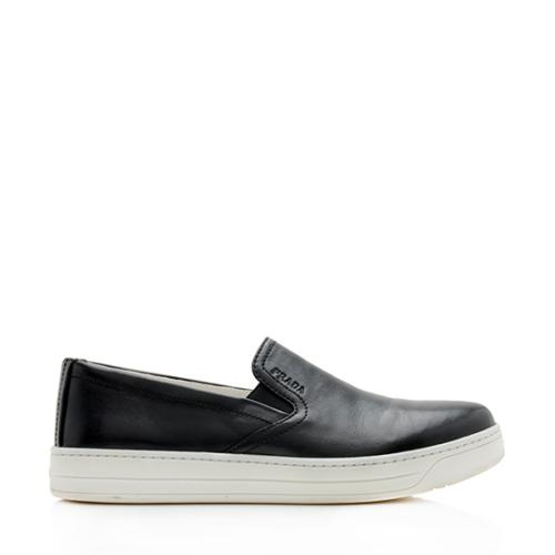 Prada Leather Sport Slip On Sneakers - Size 8 / 38