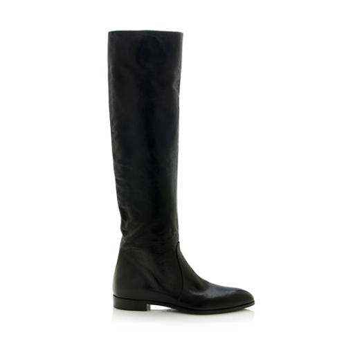 9499e450c24 Prada-Leather-Tall-Flat-Boots--Size-9-39 71538 right side large 0.jpg