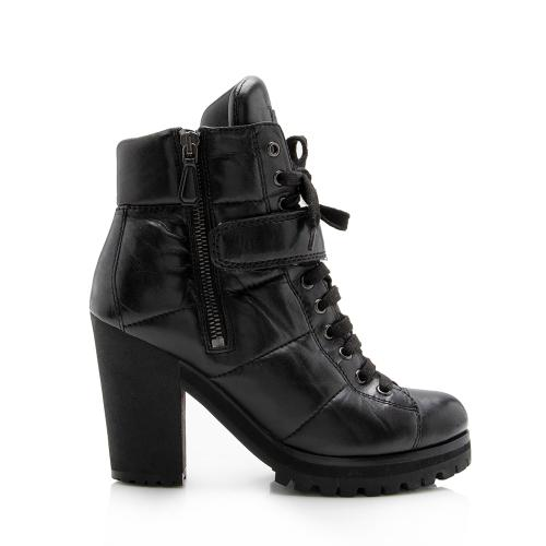 Prada Nappa Leather Sport Lace Up Boots - Size 6 / 36