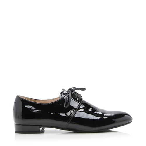 Prada Patent Leather Oxford Flats - Size 6.5 / 36.5