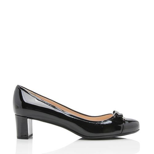 Prada Patent Leather Sport Bow Pumps - Size 10 / 40