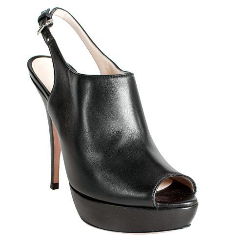 Prada Platform Peep-Toe Slingbacks - Size 6 / 36