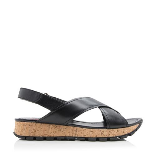 Prada Sport Leather Cord Sandals - Size 9.5 / 39.5
