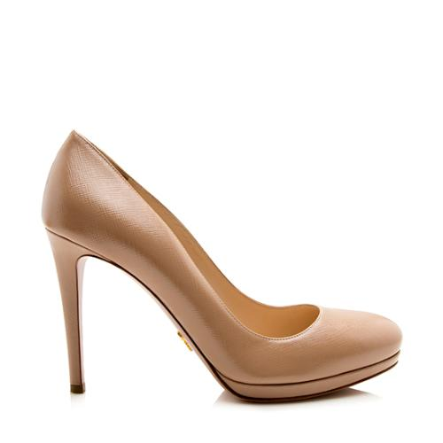Prada Vernice Leather Round Toe Pumps - Size 9 / 39