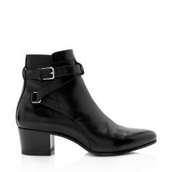 Saint Laurent Belted Leather Jodhpur Bootie - Size 6 / 36