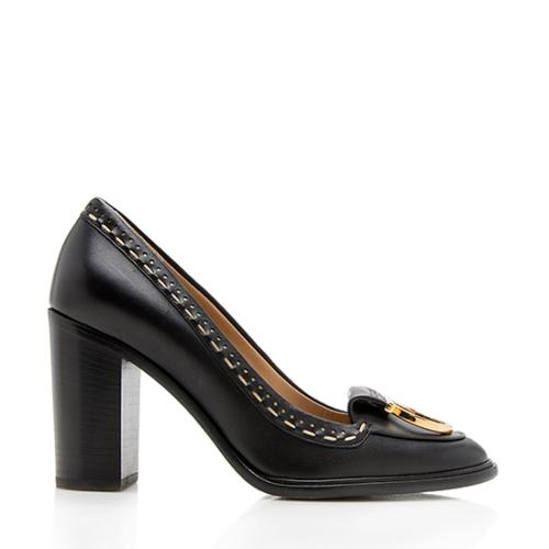 Salvatore Ferragamo Leather Fele Pumps - Size 8.5 / 38.5