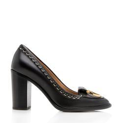 Salvatore Ferragamo Leather Fele Pumps - Size 8.5 / 38.5