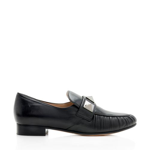 Valentino Leather Giant Rockstud Loafers - Size 7.5 / 37.5