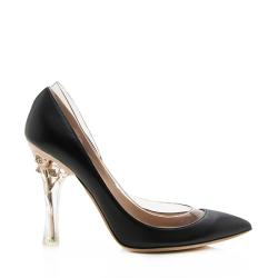 Valentino Leather PVC Crystal Pumps - Size 7.5 / 37.5
