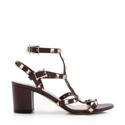 Valentino Leather Rockstud City Sandals - Size 7.5 / 37.5