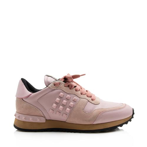 Valentino Leather Suede Rockstud Sneakers - Size 6.5 / 36.5