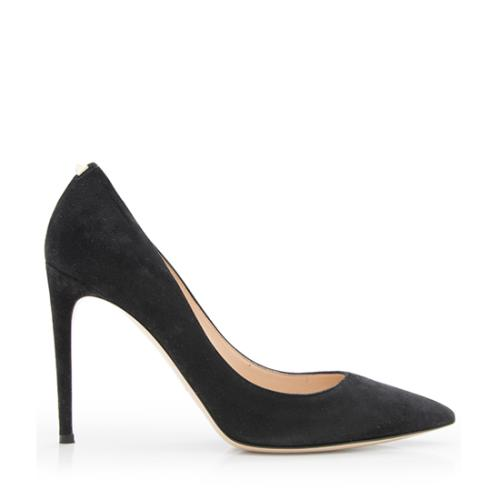 Valentino Suede Single Rockstud Pumps - Size 10 / 40
