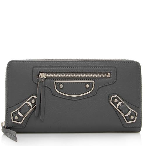 Balenciaga Chevre Edge Continental Zip Wallet