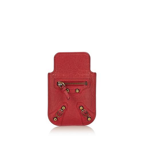 Balenciaga Leather Classic Phone Case